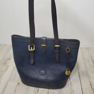Vintage Dooney & Bourke Blue Bucket Bag Purse
